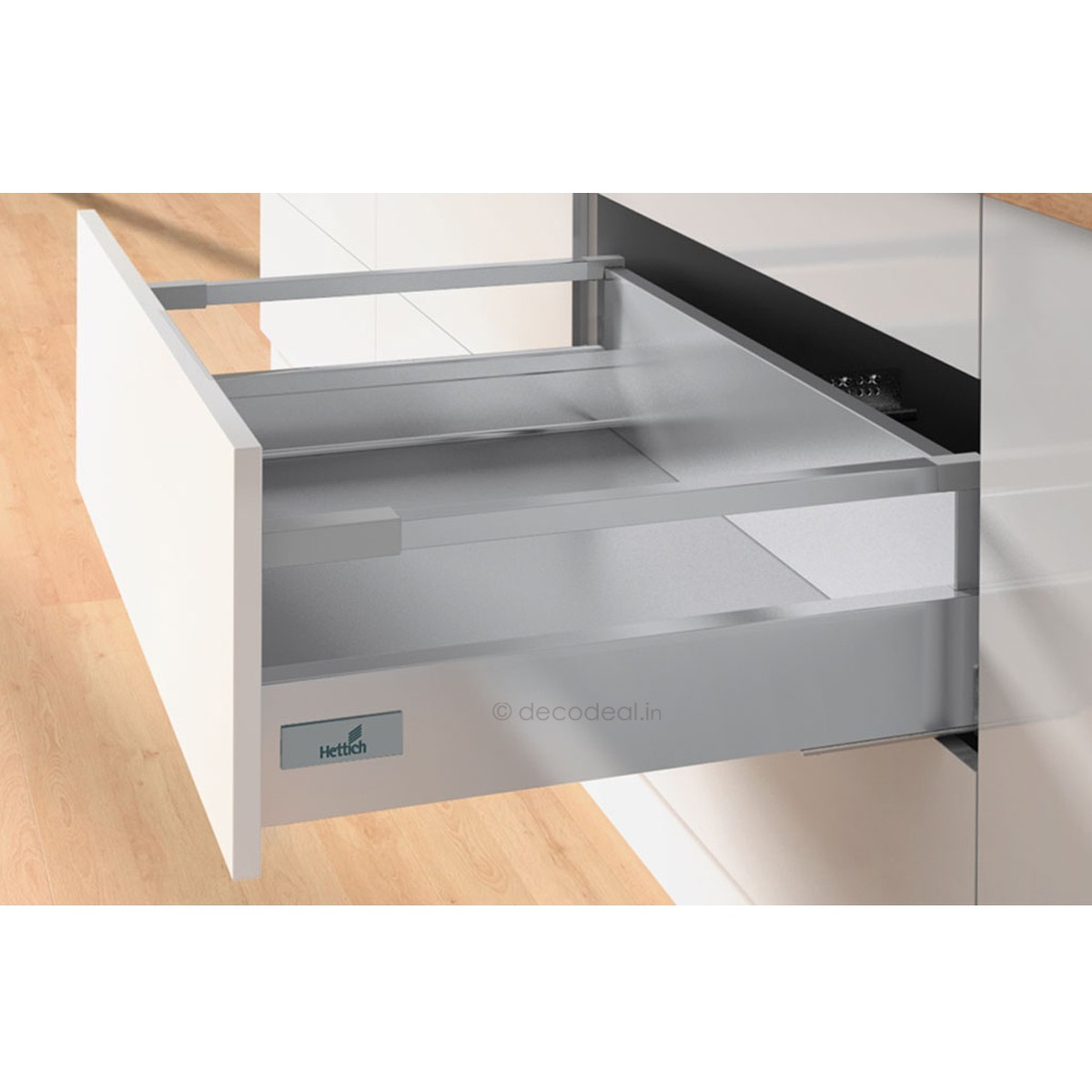 INNOTECH - 470 MM (30 KG), SILENT, DRAWER SYSTEM INNOTECH - DRAWER, HEIGHT  70 / 144 MM, HETTICH - Pullouts - Storage Units - Kitchen