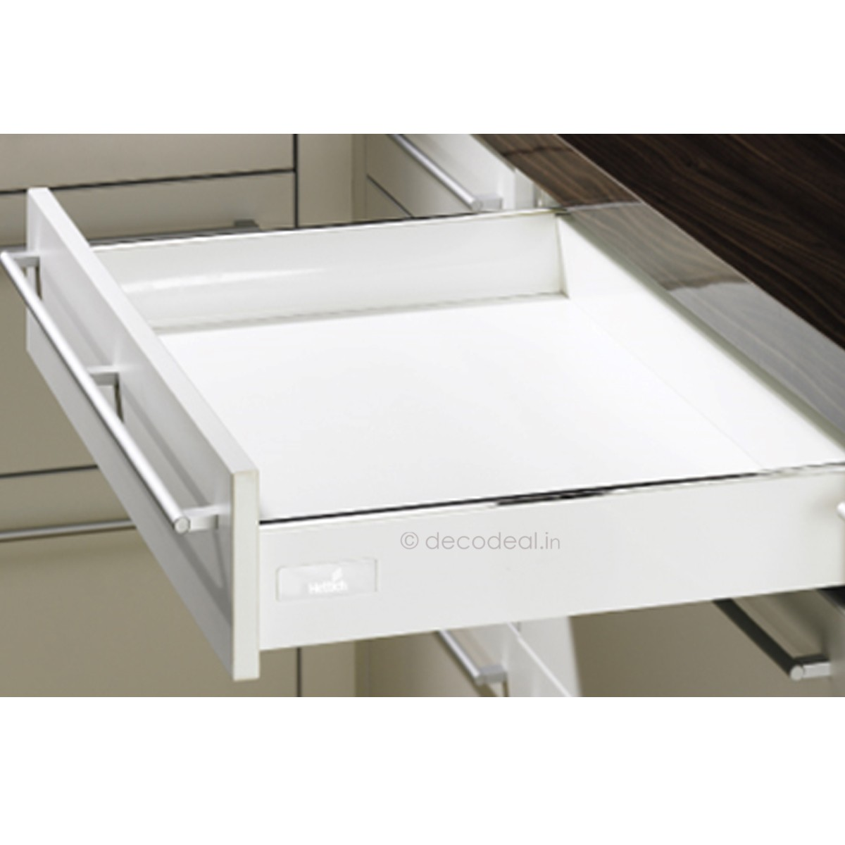INNOTECH WHITE FULL EXTN, SILENT, DRAWER SYSTEM INNOTECH - DRAWER, HEIGHT  70 / 144 MM, WHITE FINISH, HETTICH - Pullouts - Storage Units - Kitchen