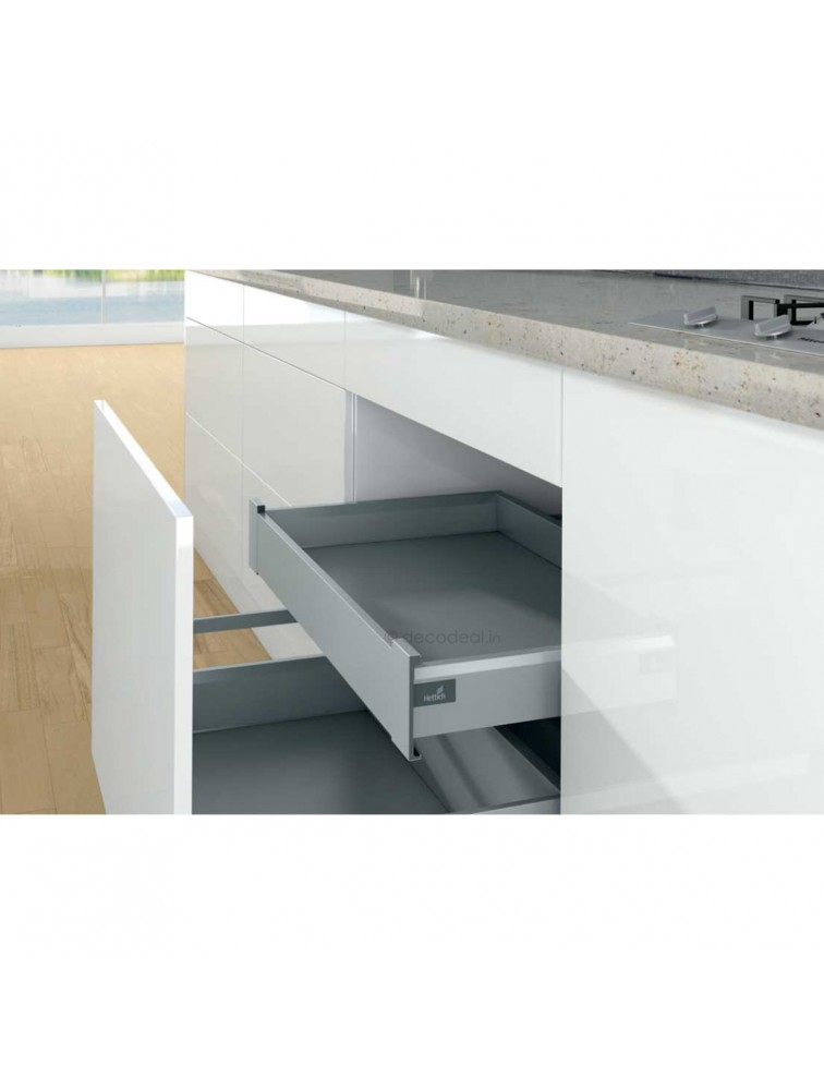 ARCITECH SILVER, HEIGHT 94 MM, DRAWER SYSTEM ARCITECH, HETTICH