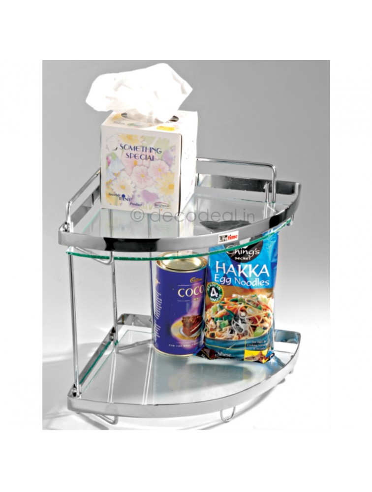 CORNER GLASS SHELF, LIFE TIME WIRE PRODUCTS