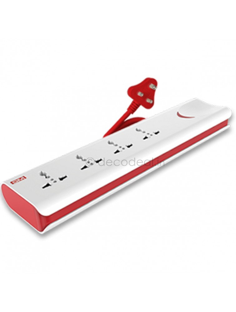 E-Book 4+1 Power Strip With Master Switch, Indicator, Safety Shutter, International Sockets, GM MODULAR
