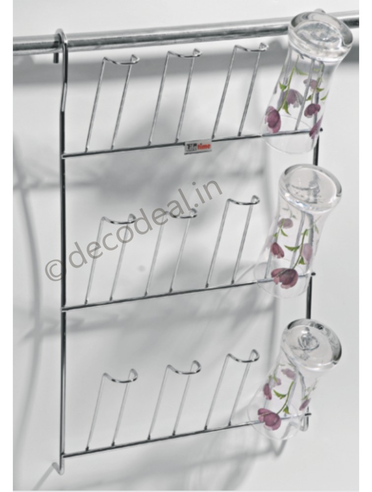 HANGING GLASS HOLDER, LIFE TIME WIRE PRODUCTS
