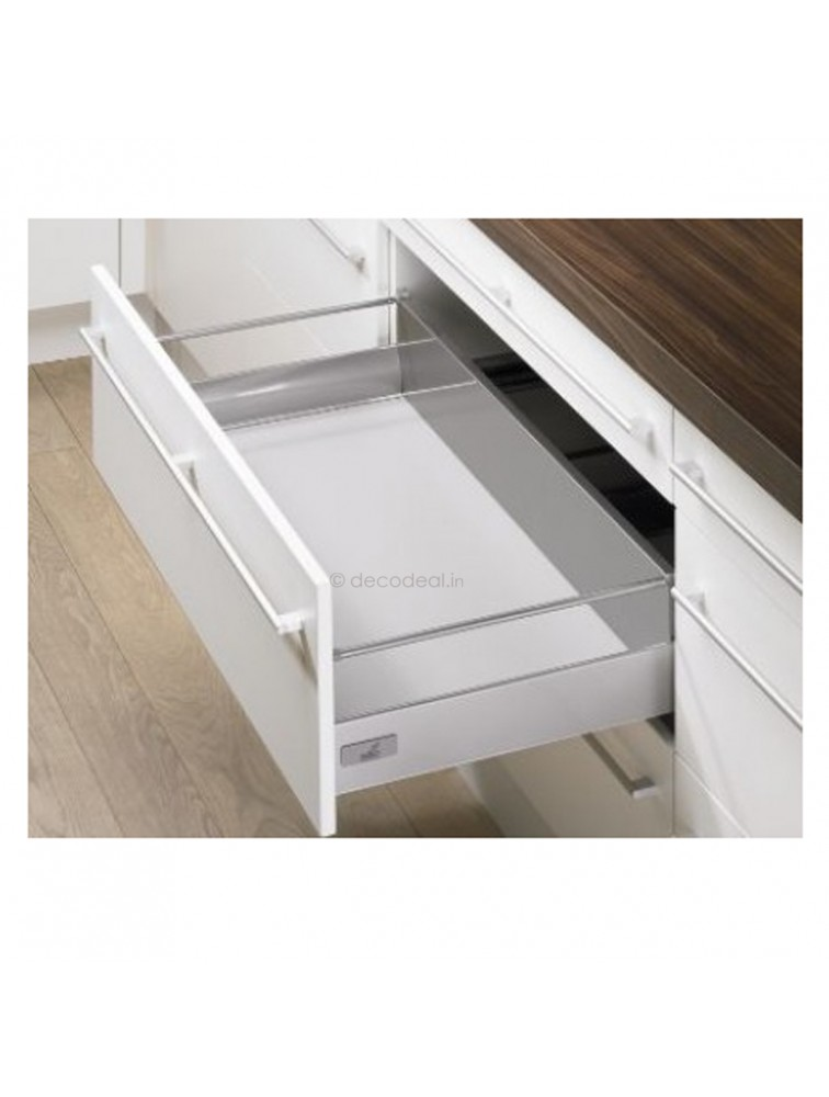 INNOTECH FULL EXTN. SILENT, DRAWER SYSTEM INNOTECH - DRAWER, HEIGHT 70 MM, SILVER FINISH, HETTICH