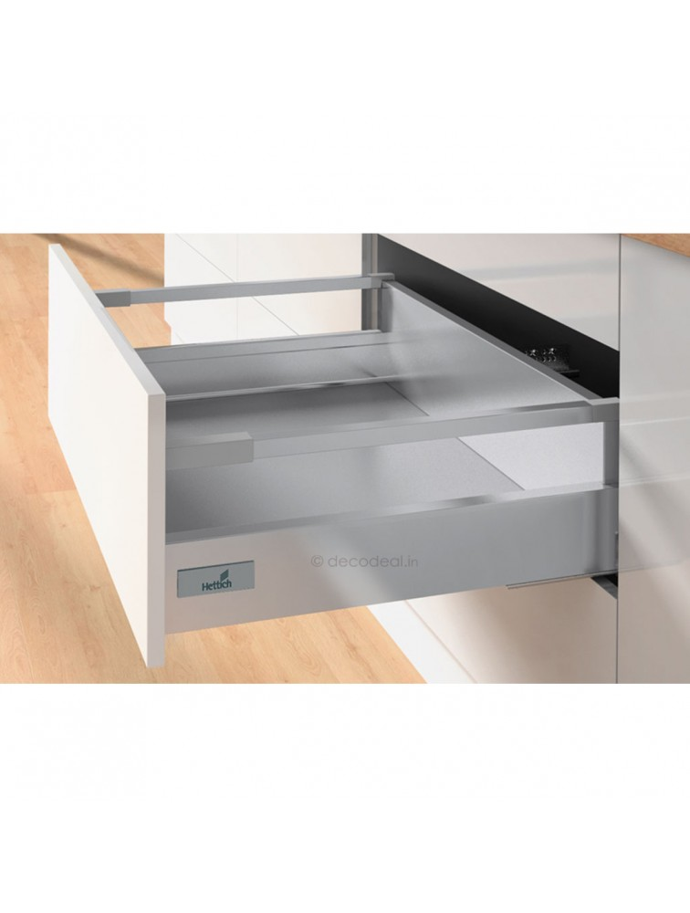 INNOTECH SILVER, POT & PAN- 470 MM (30 KG), SILENT, DRAWER SYSTEM INNOTECH - DRAWER, HEIGHT 70 / 144 MM, HETTICH