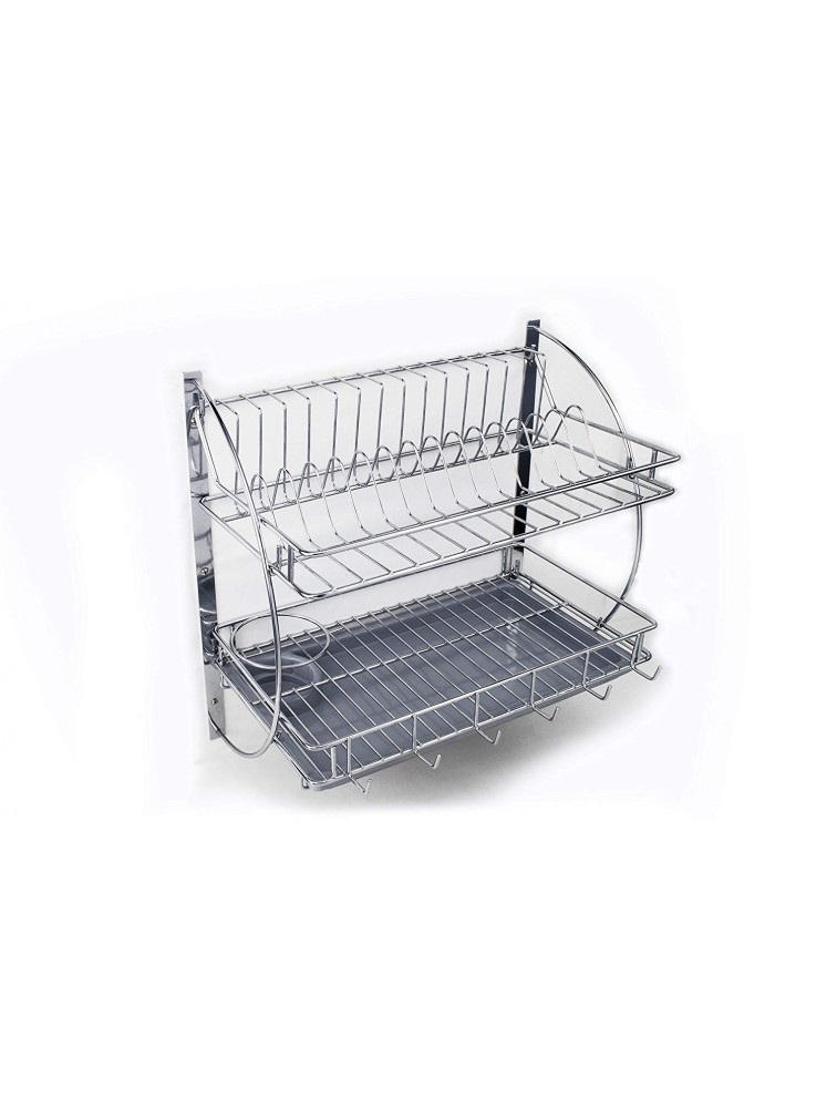 KITCHEN ORGANISER WITH PLASTIC DRIP TRAY, 24 INCH, LIFE TIME WIRE PRODUCTS