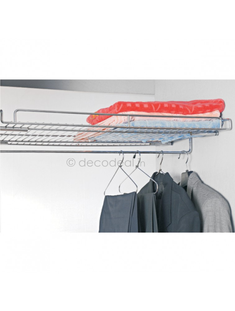 SHELF WITH COAT HANGER, LIFE TIME WIRE PRODUCTS