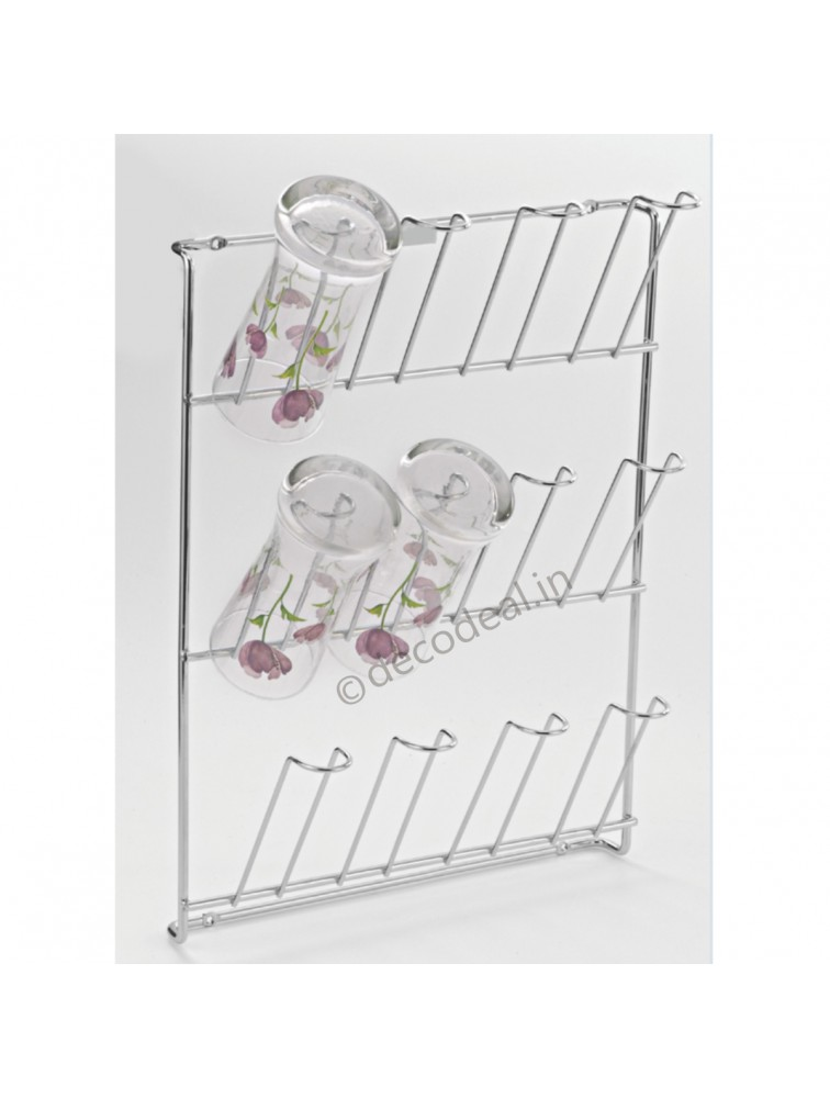 WALL MOUNTING GLASS HOLDER, LIFE TIME WIRE PRODUCTS