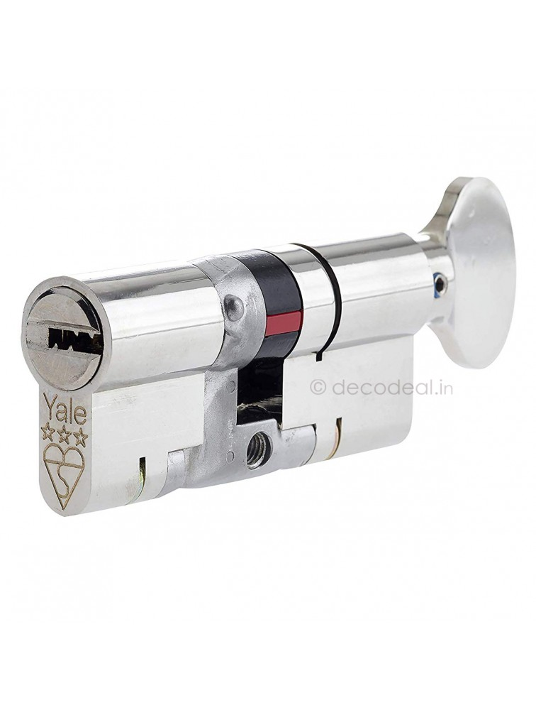 Euro Profile Cylinders - Regular Keys (3Nos.) 70MM (35+35), Door Cylinder, Yale Home Security, Mechanical Products, yale