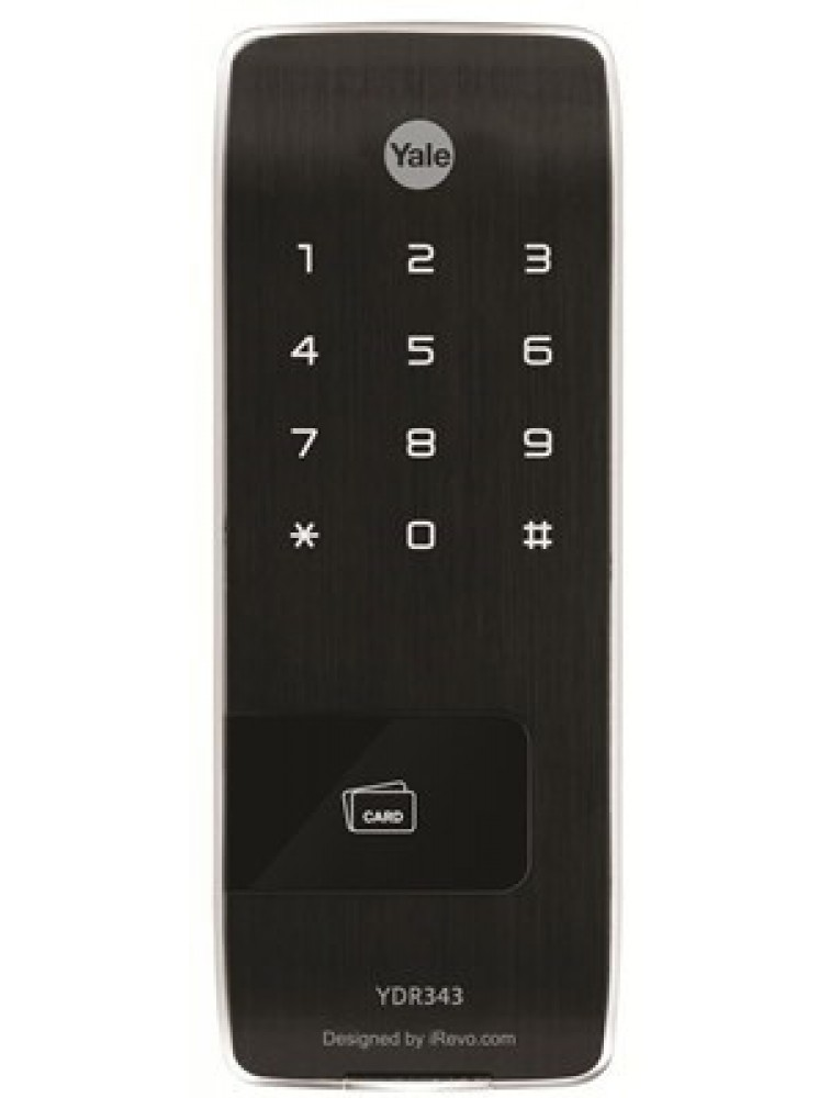 YDR343 (Vertical Rim Lock with Mobile Access) RF Smart Chip, Touch Keypad & Remote Control (Optional), yale digital door lock, yale